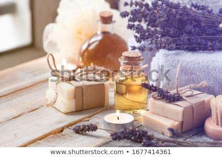 Handgemaakt zeep lavendel bloem schoonheid Stockfoto © Melpomene
