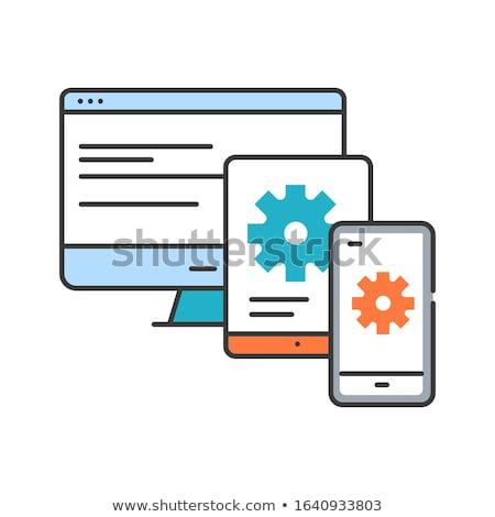 absztrakt · mentés · ikon · üzlet · háló · kulcs - stock fotó © pathakdesigner