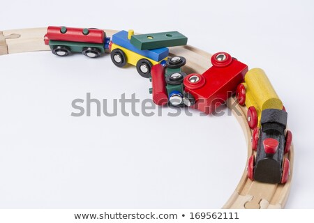 Stok fotoğraf: Accident Of A Wooden Toy Train