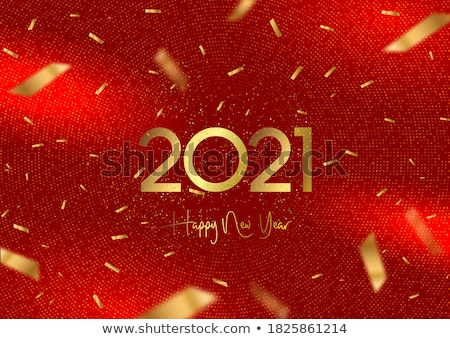 Abstract glittery Christmas design in red. Vector illustration. Stock photo © prokhorov