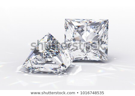 princess cut diamond on white stock photo © apttone
