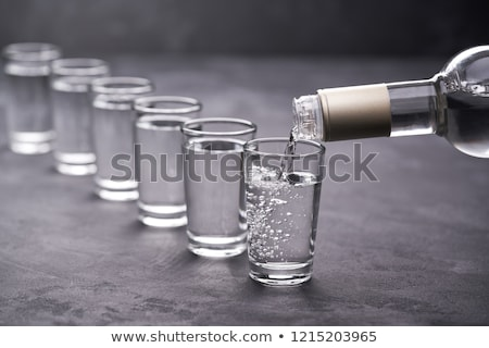 Wodka woord geschreven echt ijs brieven Stockfoto © Stocksnapper