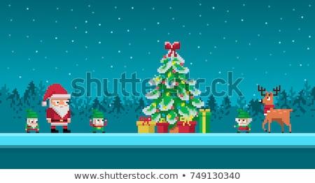 Natale slitta regali gnome illustrazione felice Foto d'archivio © Elmiko