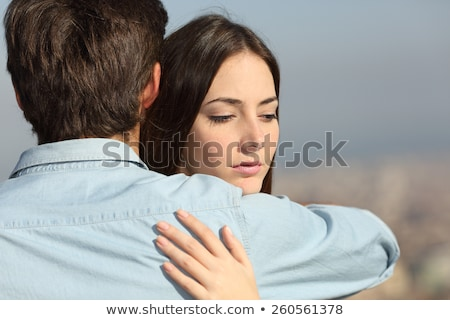 Woman jealous of couple hugging Stock photo © photography33
