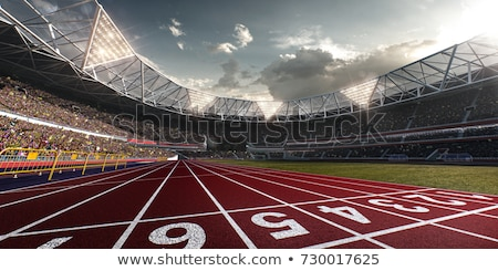Running track with sky cloud  Stock photo © inxti
