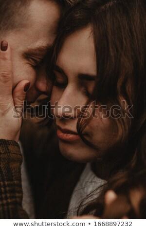 appassionato · romantica · bacio · verde - foto d'archivio © photography33
