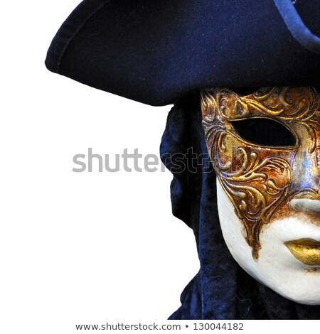 Venezia stile maschera bella ragazza seduta Foto d'archivio © carlodapino