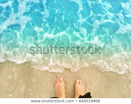 Sandy Feet on the Beach stock photo © grivet