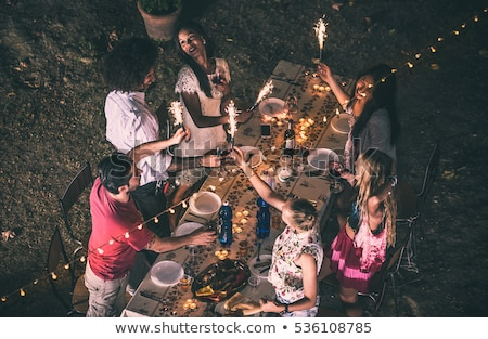 vegetable garden by night stock photo © pcanzo