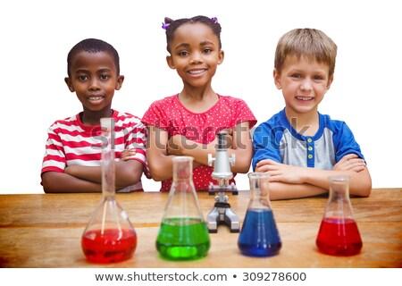 Azul vermelho branco educação ciência garrafa Foto stock © wavebreak_media