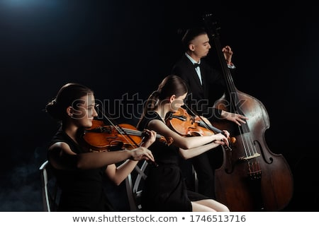 Stok fotoğraf: Klasik · keman · kâğıt · arka · plan · sanat · konser
