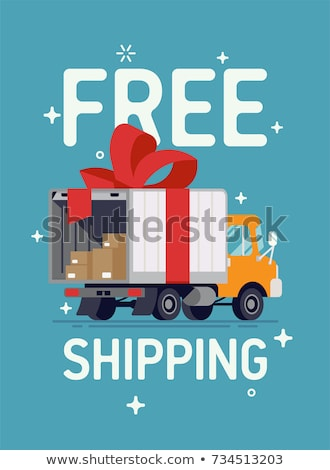 free delivery red banner Stock photo © marinini