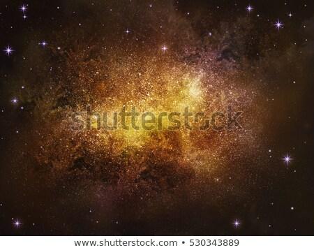 Rood ruimte Geel star planeet groot Stockfoto © ankarb
