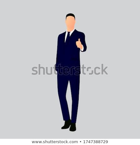 zakenman · foto · jonge · tonen - stockfoto © feedough