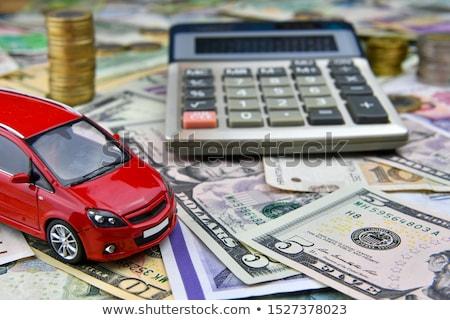 красный игрушку автомобилей монетами покупке Сток-фото © joseph73