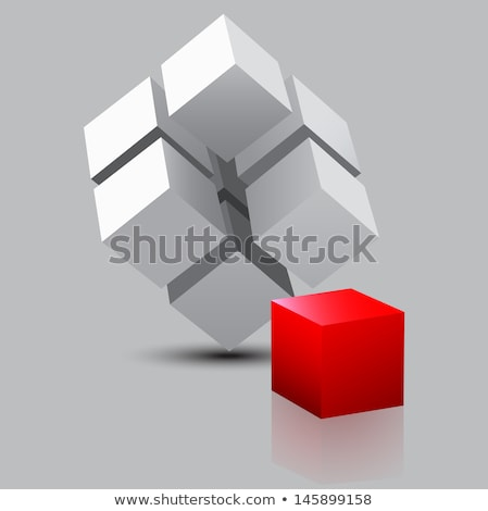 Szürke kocka épület terv oktatás doboz Stock fotó © arcoss