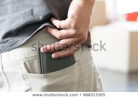 джинсов · кармана · назад · изолированный · белый - Сток-фото © redpixel