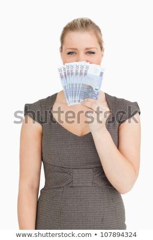 женщину · сокрытие · мыши · евро · белый - Сток-фото © wavebreak_media