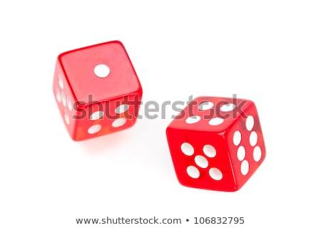 twee · Rood · witte · leuk · gezichten · casino - stockfoto © wavebreak_media