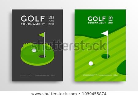 golf · şampiyon · simge · beyaz · golf · topu - stok fotoğraf © lightsource