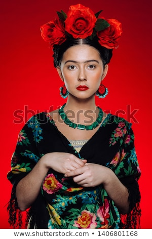 Young woman in spanish traditional clothes in studio Stock photo © vetdoctor
