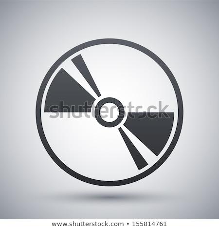 Vetor ícone cds comunicação Foto stock © zzve