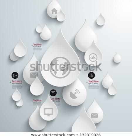 web · waterdruppels · groene · Geel · water · textuur - stockfoto © mcherevan