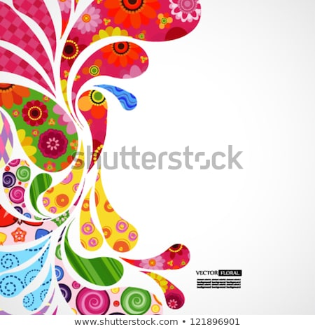 abstract colorful background with floral stock photo © rioillustrator