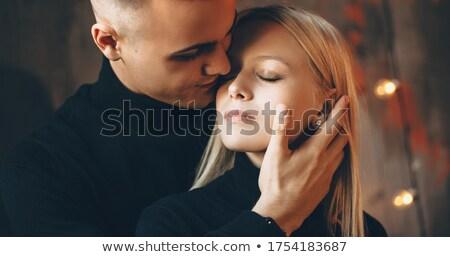 jovem · topless · casal · jeans · sensual - foto stock © konradbak