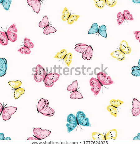 Abstract Floral Butterflies Design stock photo © kittasgraphics