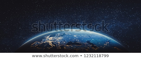 space earth and stars stock photo © olgaaltunina