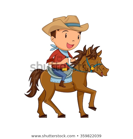 boy with cowboy hat and pony horse stock photo © goce