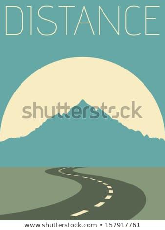 grunge mountain road stock photo © maxmitzu
