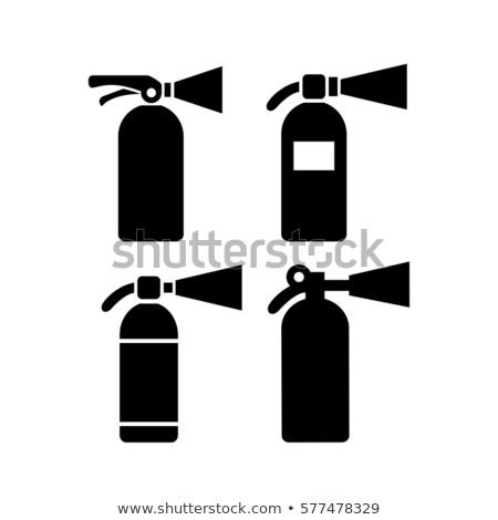 Fire extinguisher silhouette Stock photo © akaprinay