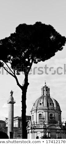 黒白 · 遺跡 · ローマ · イタリア - ストックフォト © SecretSilent