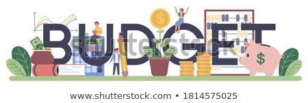 Student financieren vrouw stuk papier Stockfoto © jayfish