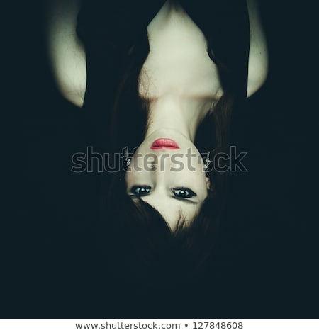 ハロウィン · 少女 · 怖い · 口 · 極端な · 女性 - ストックフォト © pxhidalgo