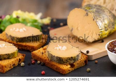 Kaz karaciğer zencefilli çörek restoran ekmek et Stok fotoğraf © M-studio