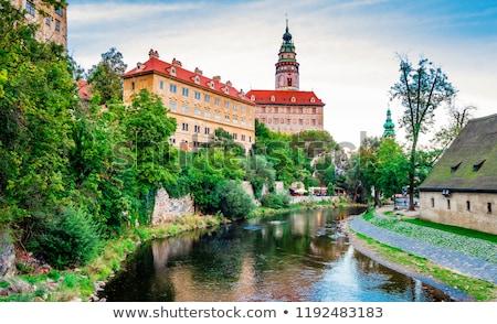 城 · 旧市街 · 1泊 · チェコ共和国 · 市 · 壁 - ストックフォト © hanusst