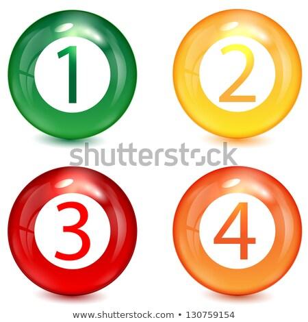 ストックフォト: 1 2 3 Brilliant Button Numbers