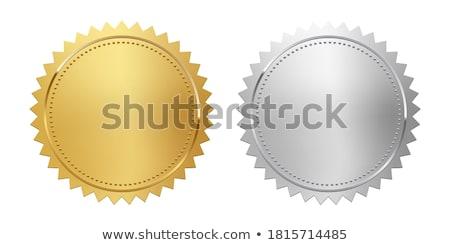 Foto stock: Prata · selar · vetor · assinar · prato · publicidade
