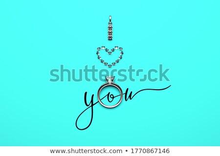 glamorous gold   i love you stock photo © nazlisart