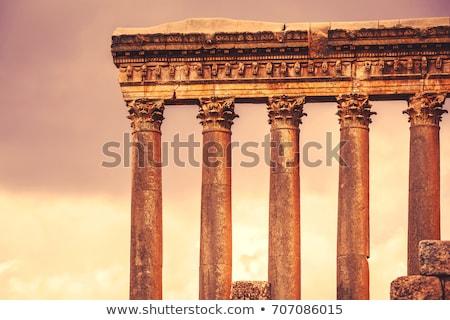 Ruiny wygaśnięcia jasne pomarańczowy arabski Zdjęcia stock © Anna_Om