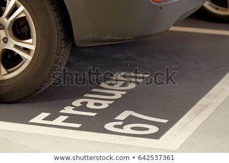 Women parking space sign Stock photo © ifeelstock