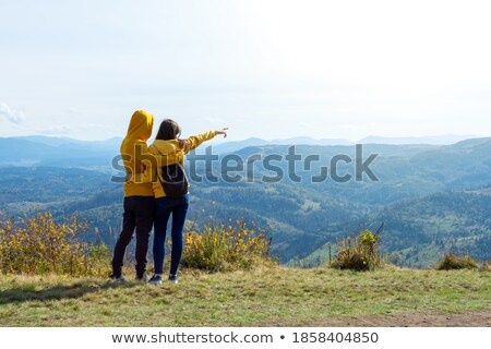 Couple Admiring View On Countryside Walk Stock photo © monkey_business