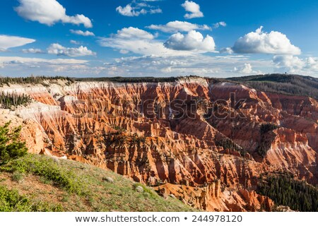 red rock formation in Cedar Breaks, Utah Stock photo © jeffbanke