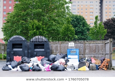 Rows of empty garbage tips Stock photo © juniart