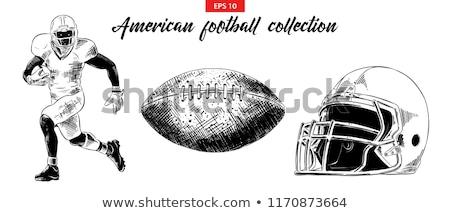 sketch football helmet vector vintage background stock photo © kali