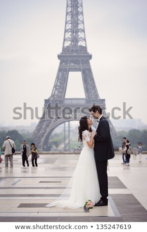 ロマンチックな エレガントな カップル 親密な スーツ ストックフォト © stryjek