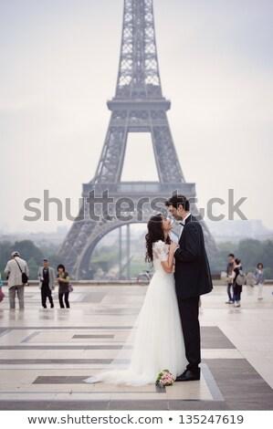 Romántica elegante Pareja íntimo traje Foto stock © stryjek